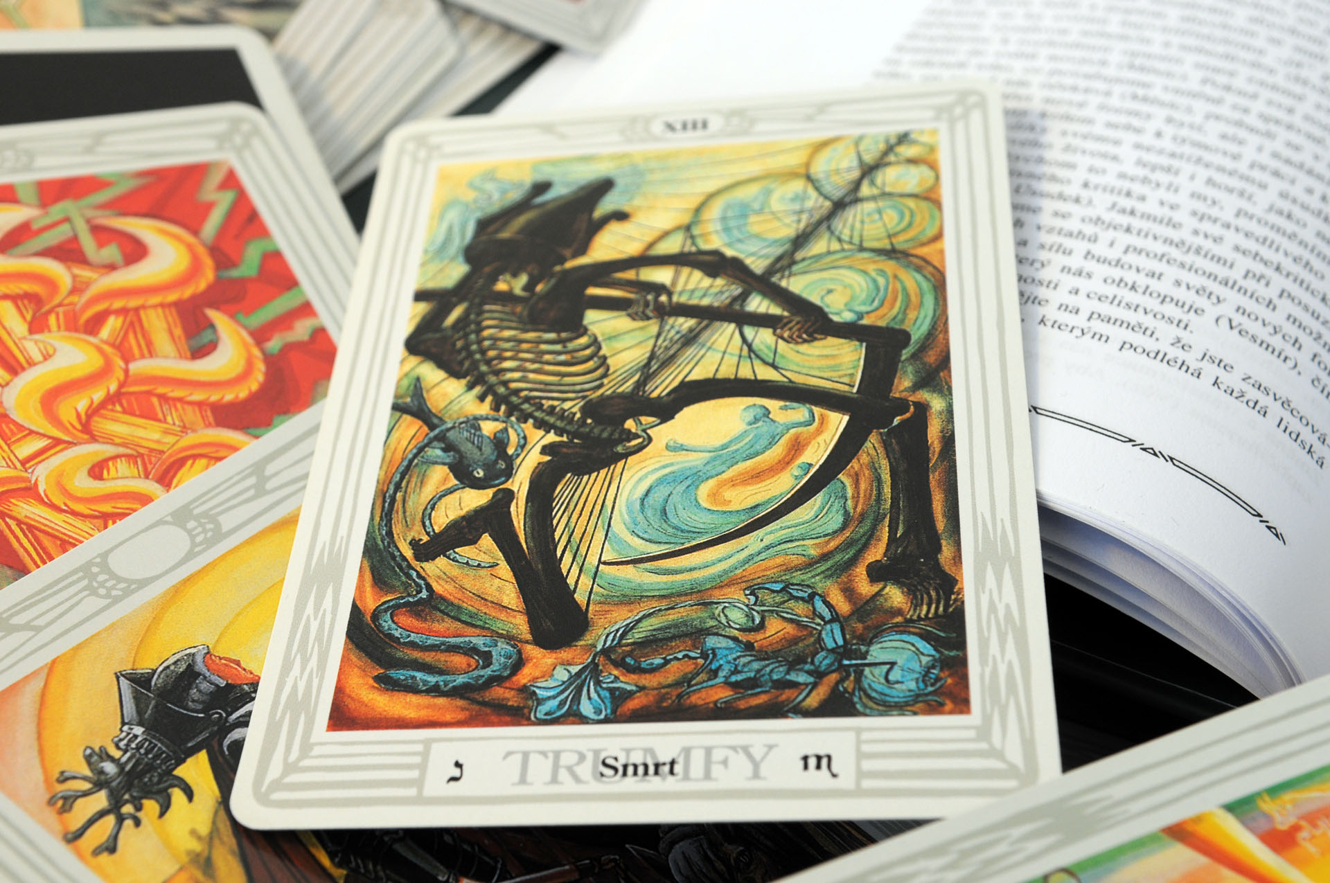 Crowleyho Tarot Thothuv Tarot Tarotove Karty