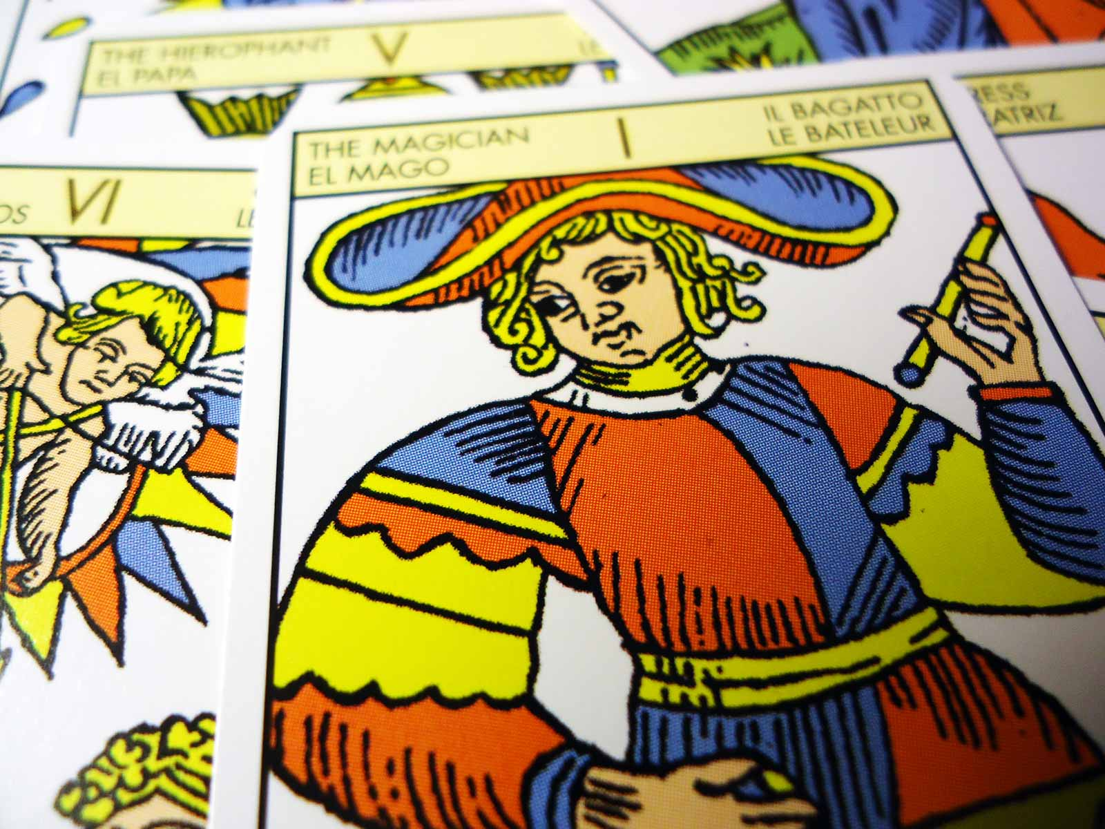 The Magician - tarot card, Tarot De Marseille