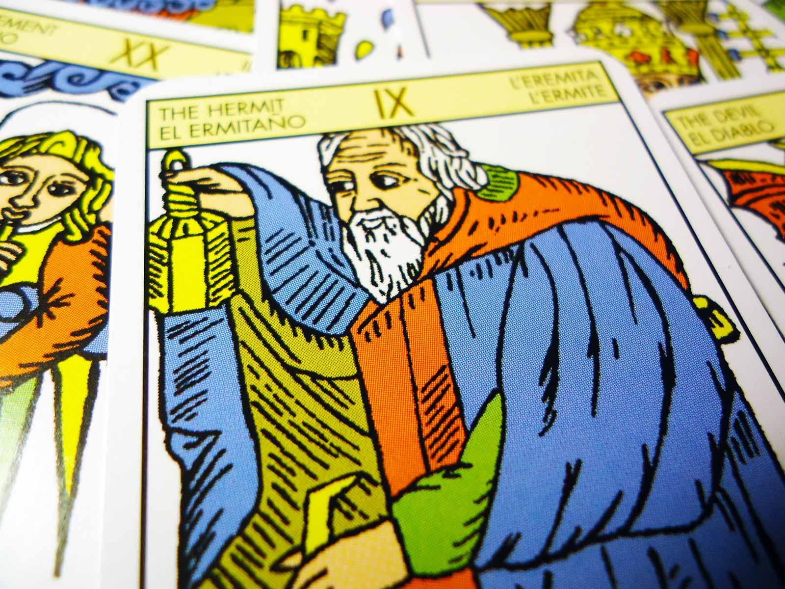The Hermit - tarot card, Tarot De Marseille